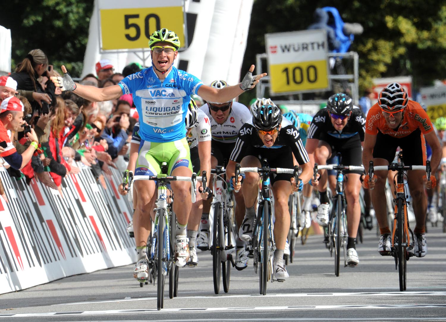 Peter Sagan wins, Tour de Suisse 2011, stage eight