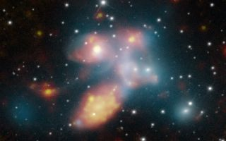 Stephan's Quintet of Galaxies Shimmer and Shine