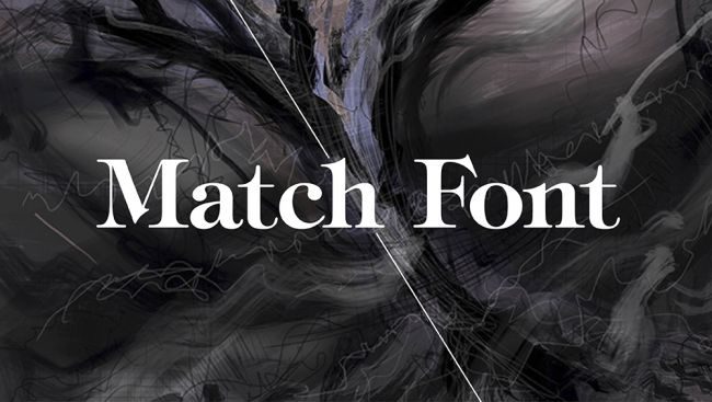 Photoshop tutorials: match font