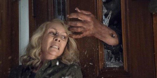 Laurie fighting off Michael in Halloween