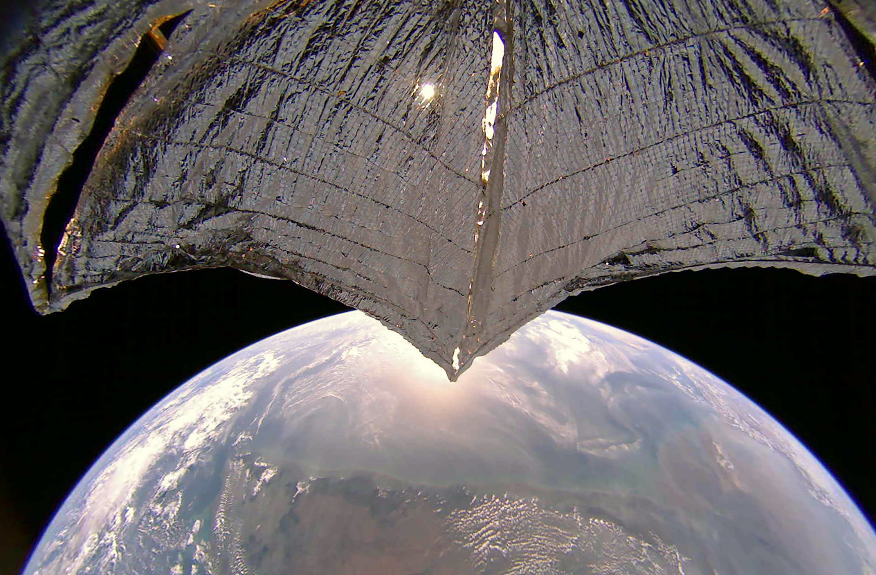 An image from LightSail 2 shows the west coast of India on Jan. 21, 2020.