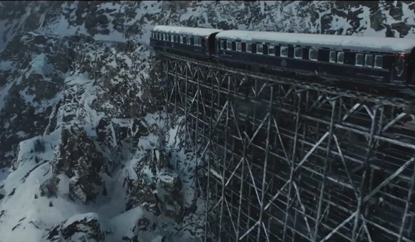 The train accident in murder on the orient express