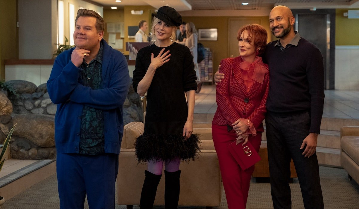 James Corden, Nicole Kidman, Meryl Streep, Keegan Michael Key in The Prom
