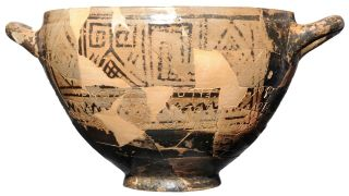 The cup is on permanent display at the Archaeological Museum of Pithecusae on the island of Ischia in Italy.