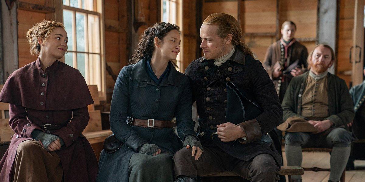 outlander season 6 brianna claire jamie sitting starz