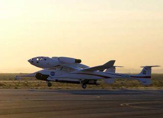 Rutan's White Knight Carries X-37 Space Plane Aloft