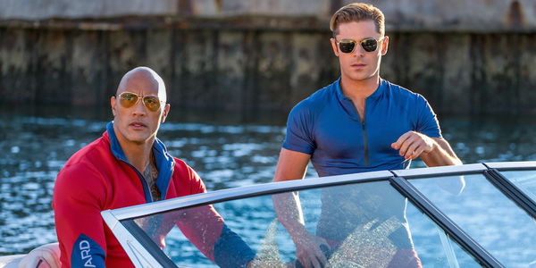baywatch zac efron and the rock shirtless