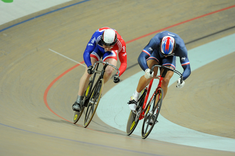 Jason Kenny and Kevin Sireau, sprint, European Track Championships 2010, day two