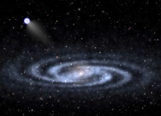A Hypervelocity Star Speeding Away