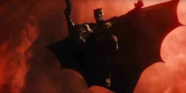 Batman Justice League red skies