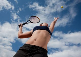 tennis playing fitness