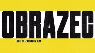 Best free fonts: Obrazec