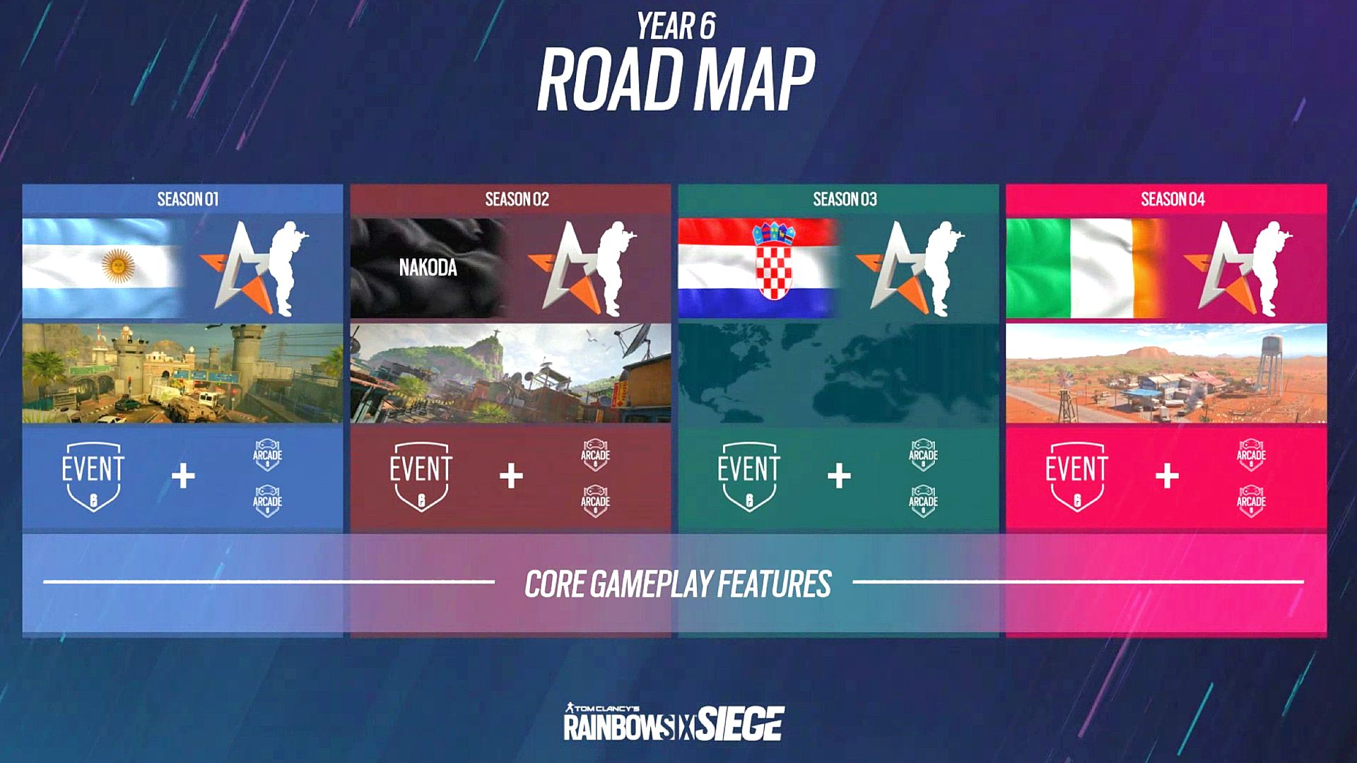 Rainbow Six Siege Year 6 roadmap