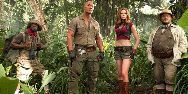 Jumanji Welcome To The Jungle Kevin Hart Dwayne Johnson Karen Gillan Jack Black
