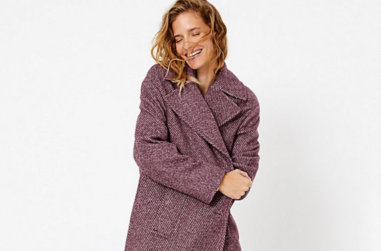 marks spencer lilac winter coat sell out