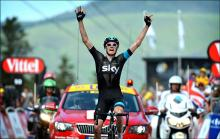 Chris Froome (Sky) won stage 8 and took over the Tour de France race lead