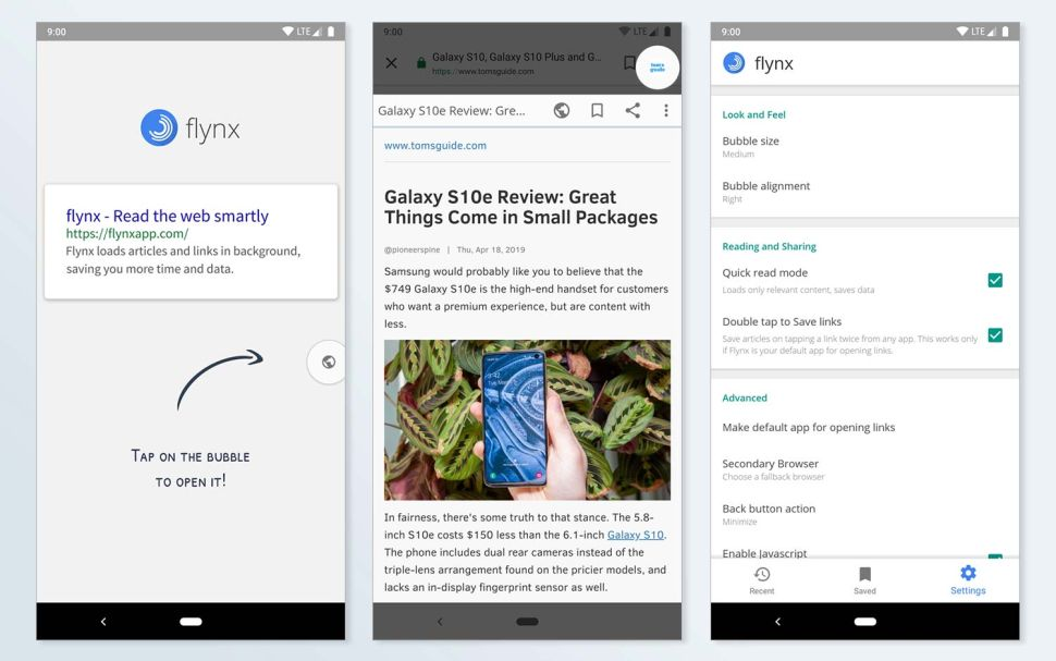 Best Android Browsers: Flynx