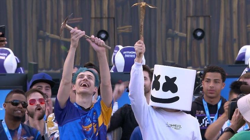 Who Won The E3 Fortnite Pro Am Ninja And Marshmello Win Fortnite Celebrity Pro Am Winning 1m For Charity Pc Gamer