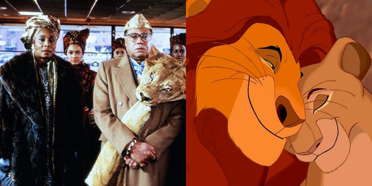 Madge Sinclair and James Earl Jones in Coming to America and The Lion King