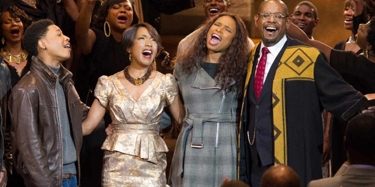 Jennifer Hudson, Jacob Latimore,  Forest Whitaker, and Angela Bassett in Black Nativity