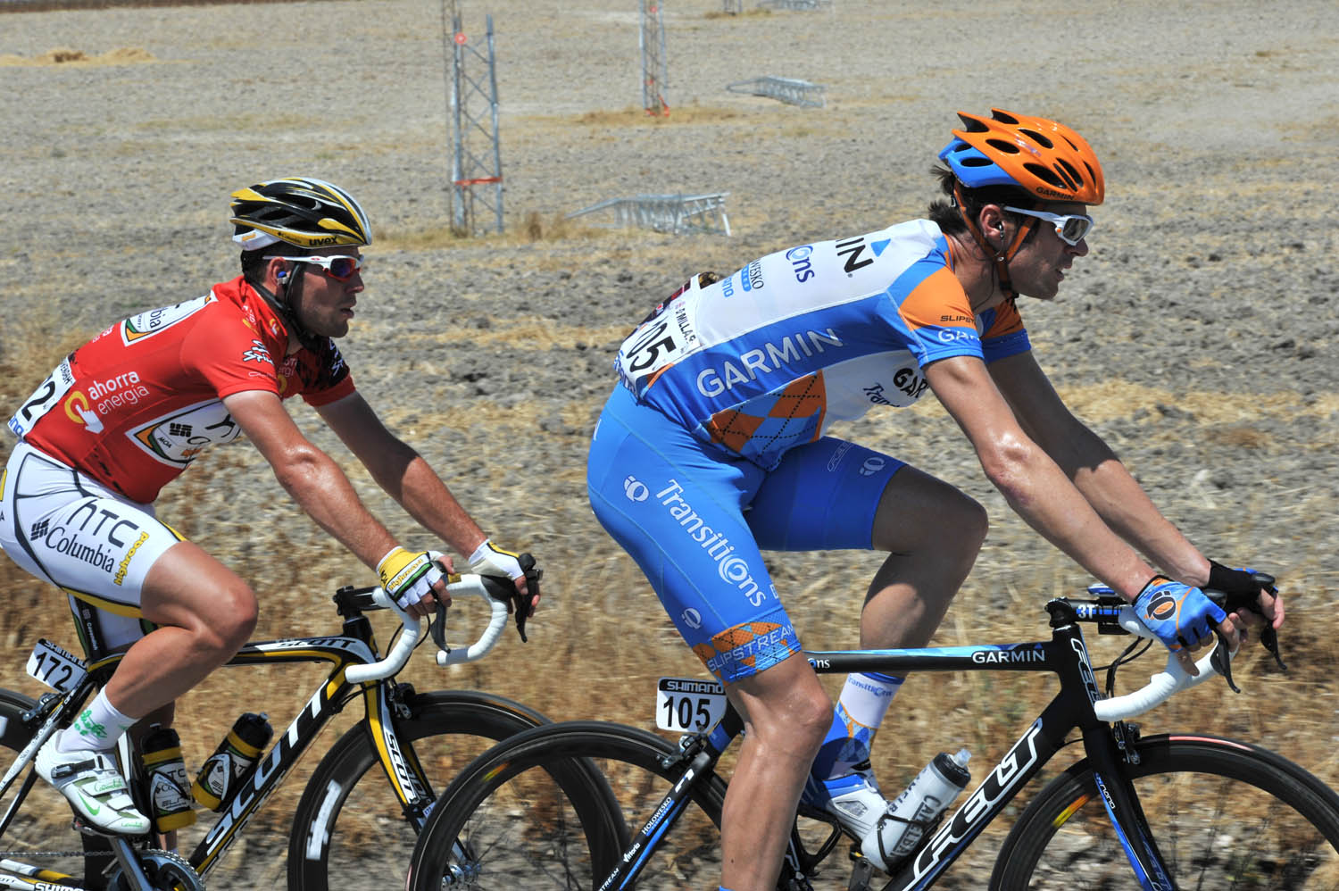 Mark Cavendish and David Millar, Vuelta a Espana 2010, stage two