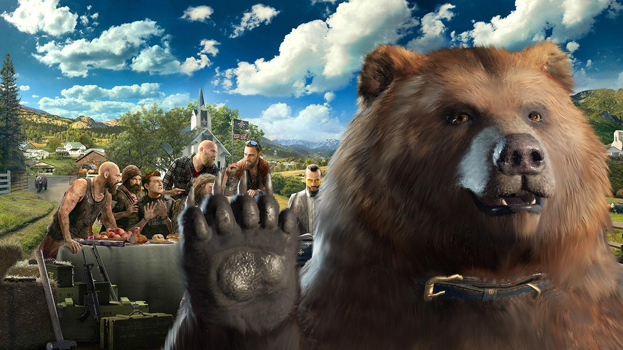 How To Get Cheeseburger The Bear In Far Cry 5 Gamesradar