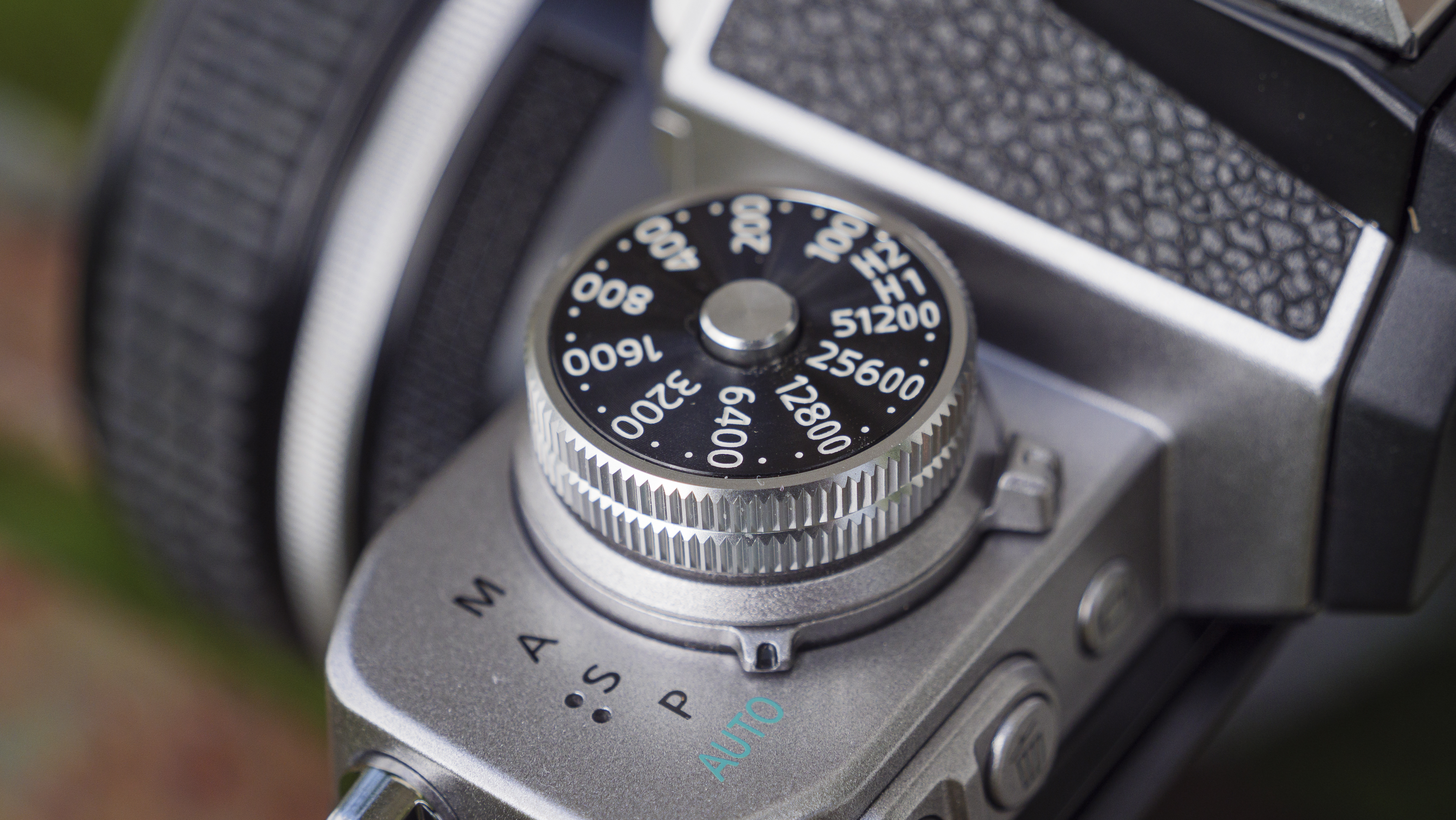 The ISO dial of the Nikon Z fc