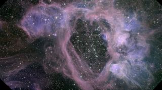 Supernova Bubble in Large Magellanic Cloud
