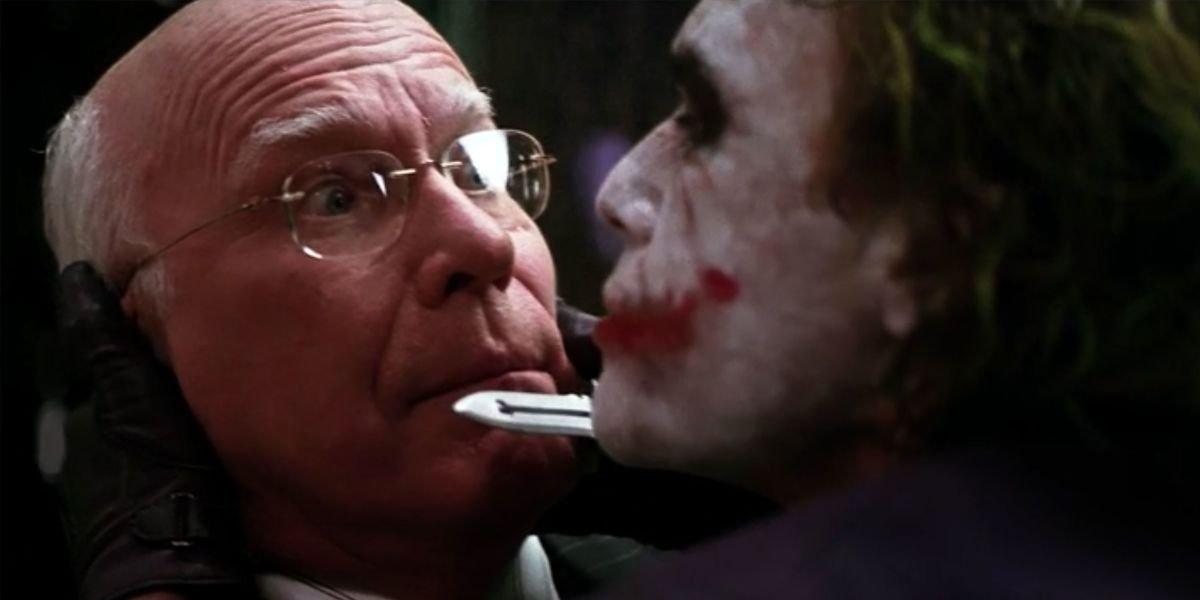 Sen. Patrick Leahy and Heath Ledger as The Joker in The Dark Knight