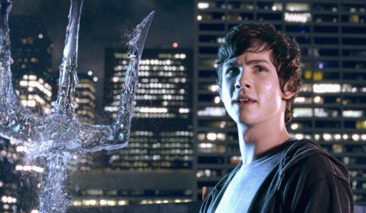 Logan Lerman as Percy Jackson in the Lightning Thief