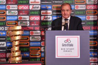 Mauro Vegni at the 2018 Giro d'Italia 'big start'