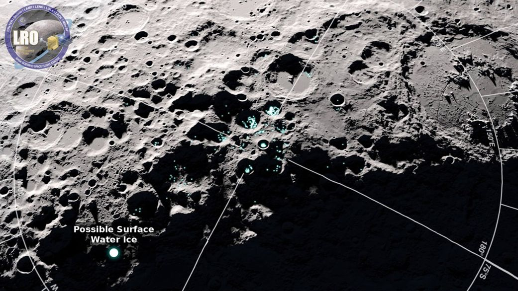 Water Molecules Bounce Around the Moon. Here's Why.