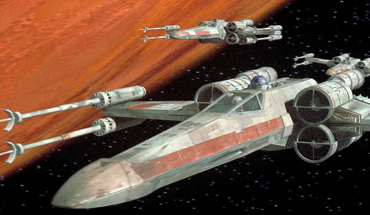X-wing's in Star Wars A new Hope