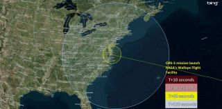 ORS-3 Launch Visibility Map