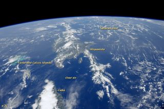 Sahara dust over Caribbean Sea, July 2012.