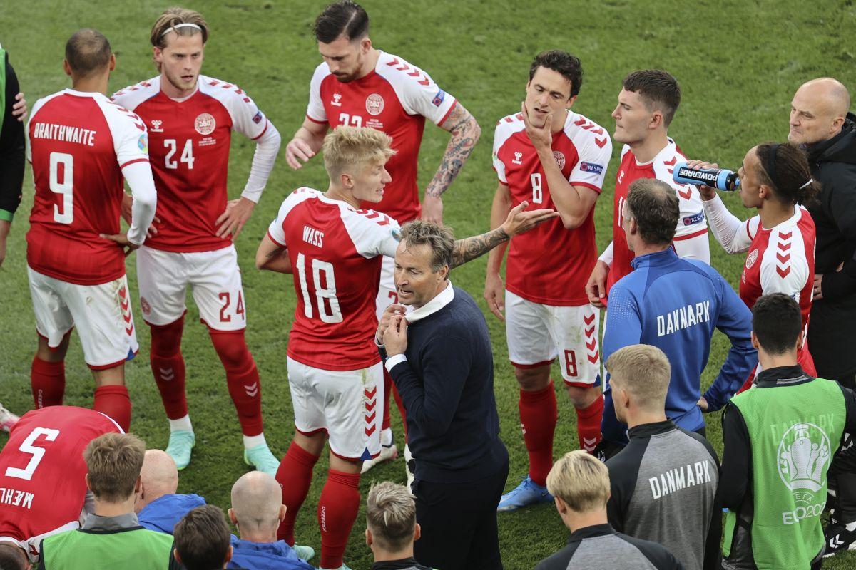 Tearful Kasper Hjulmand hails Denmark unity after Christian Eriksen collapse