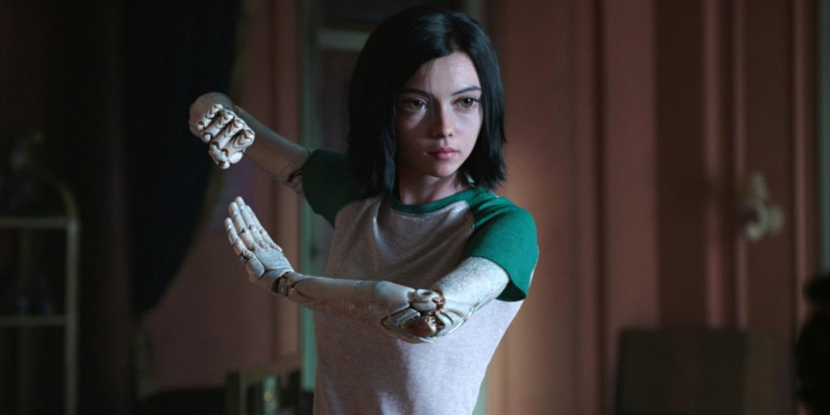 Alita: Battle Angel Alita practices her fighting skills