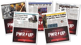 PWR⚡️UP advertisements appear in newspapers across the UK as whatever AC/DC are doing gains traction
