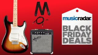 Get a Squier Limited Edition Stratocaster guitar pack with everything you need to start playing for just $169