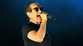 A shot of Graham Bonnet singing live