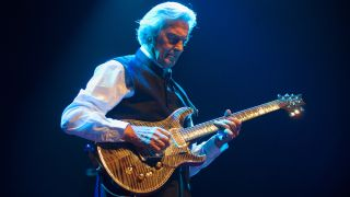 John McLaughlin performs on stage at London Jazz Festival at the Royal Festival Hall on November 20, 2014 in London, United Kingdom.