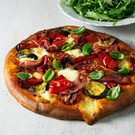 Pesto pizza-recipe ideas-pizza recipes-woman and home