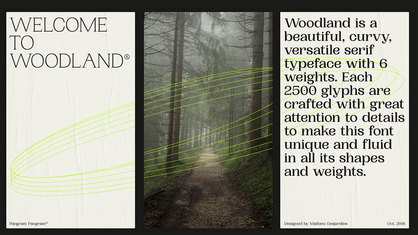 best free fonts: Woodland