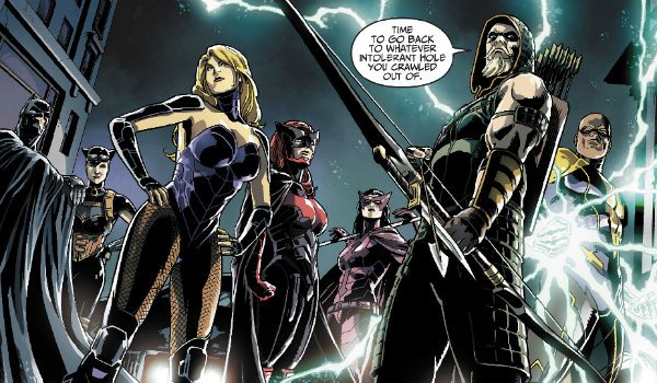 Injustice Insurgency Batman Black Canary Green Arrow Batmwoman Huntress