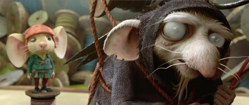 The Tale of Despereaux - Plucky little mouse Despereaux (voiced by Matthew Broderick) is led to the edge of Ratworld by Hovis (voiced by Christopher Lloyd)