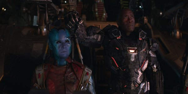 Nebula and War Machine in Avengers: Endgame