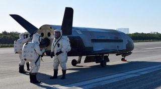 X-37B After Landing, May 2017