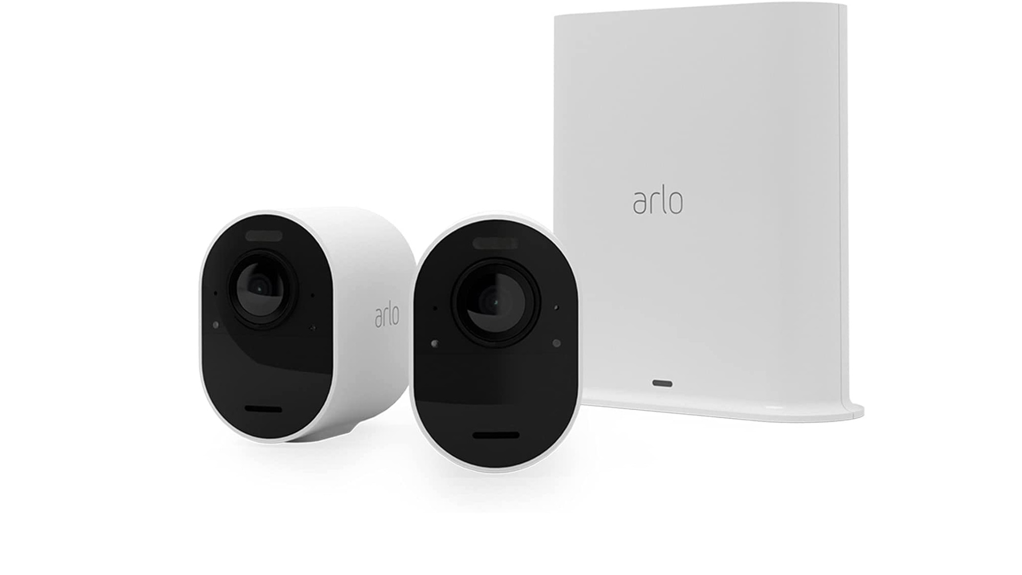 Arlo Ultra 2 two-camera kit on a white background