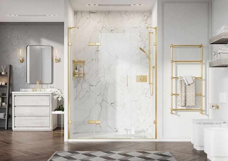 Shower area of a bathroom