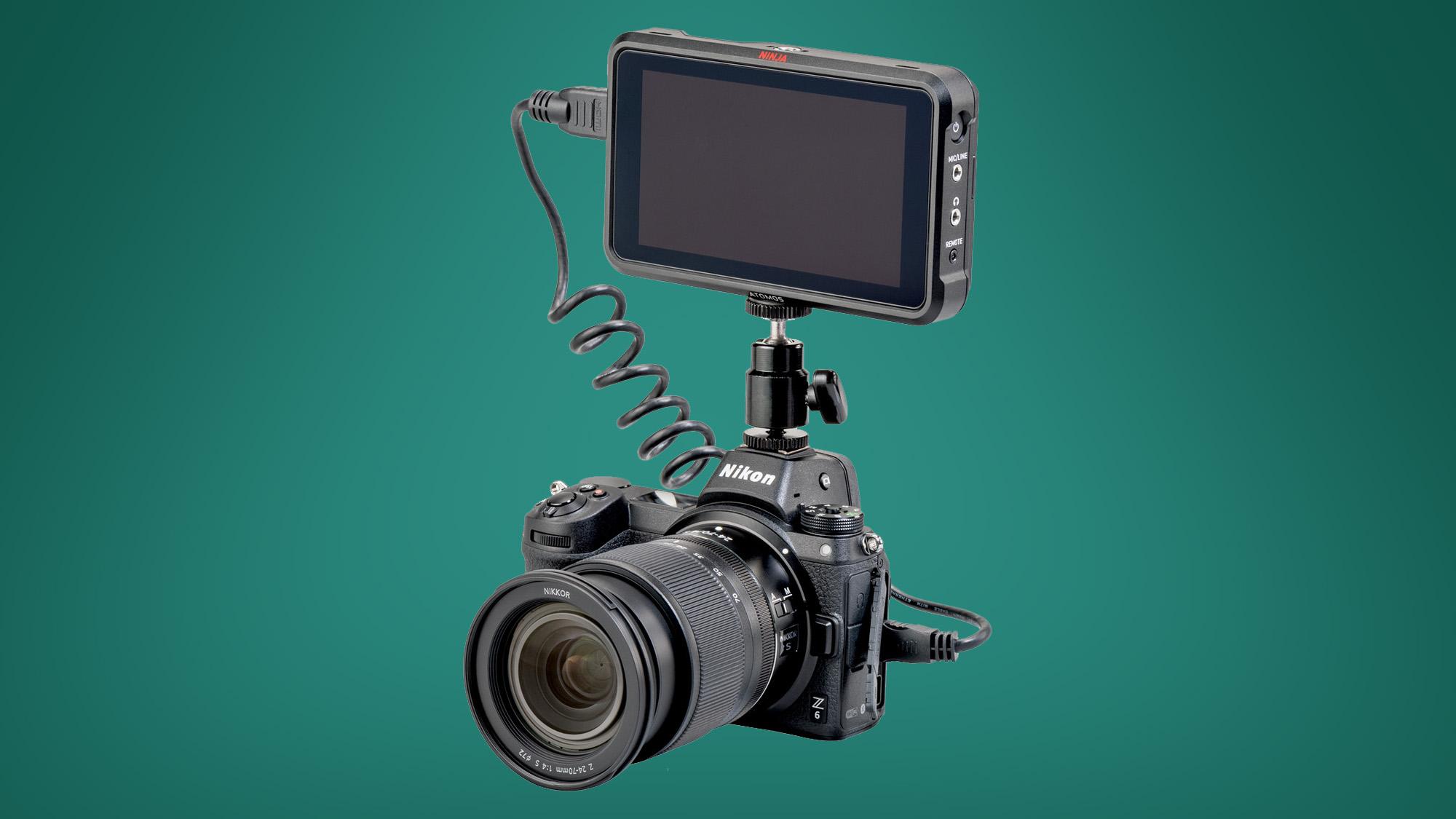 A Nikon Z6 with an Atomos Ninja V recorder